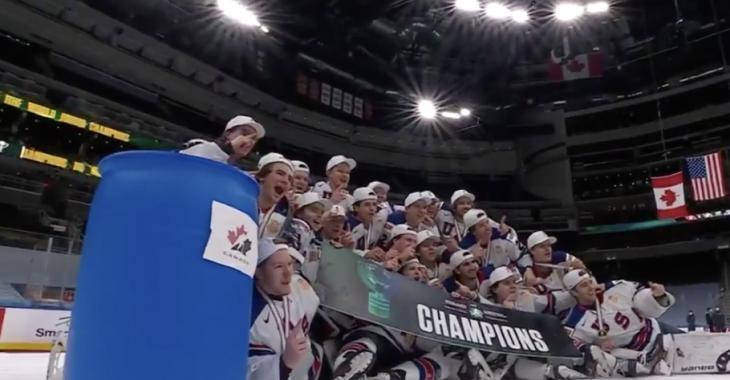 Team USA explains «trash can» controversy after gold medal win against Canada
