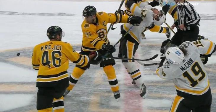 Crosby under fire after NBA-style flop against the Bruins.
