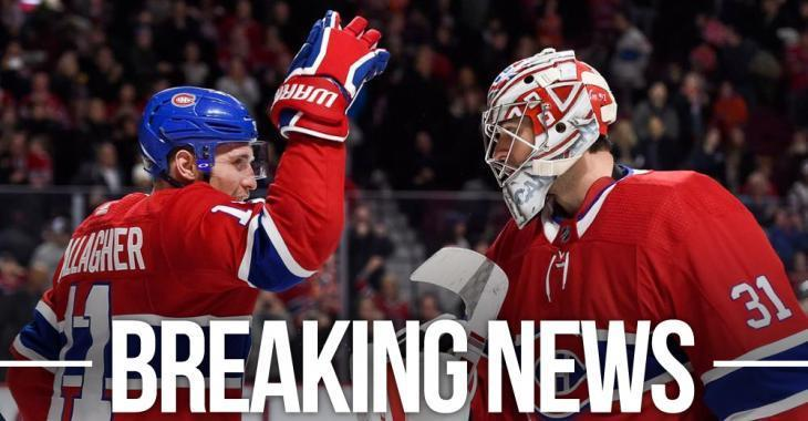Habs lose both Price and Gallagher, add rookies to replace them