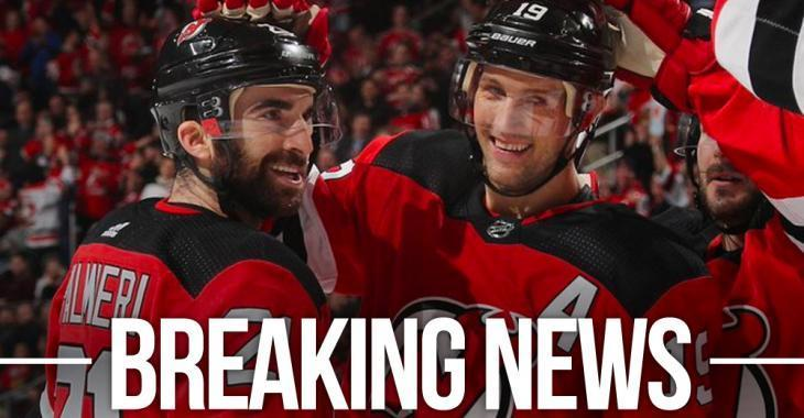 Devils trade forwards Kyle Palmieri and Travis Zajac