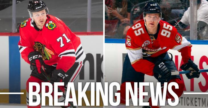 Trade Alert: Blackhawks acquire 1st rounder Borgstrom from Panthers in 5 player deal
