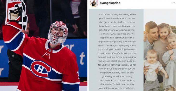Angela Price shares details after husband Carey Price leaves the Montreal Canadiens